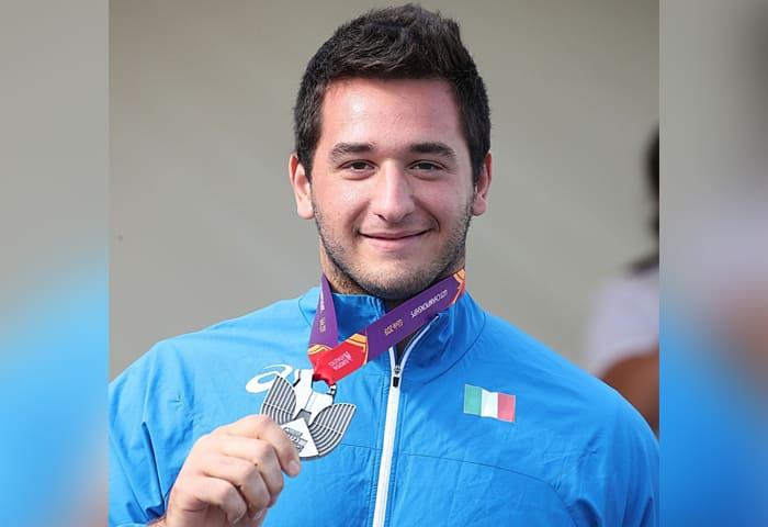 Leonardo Fabbri lancio del peso